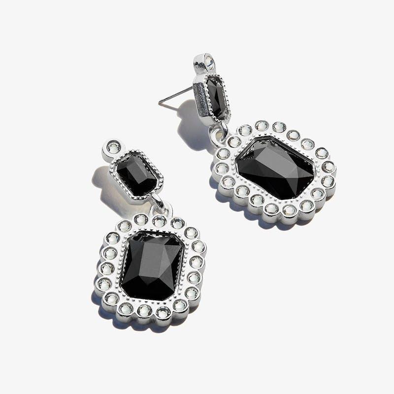 Black Emerald Earrings
