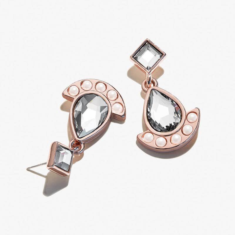 Pearl + Crystal Earrings