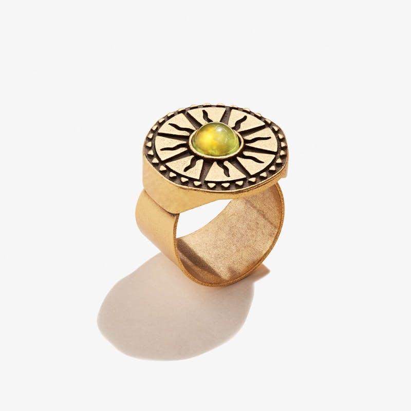 Jade Sun Cocktail Ring
