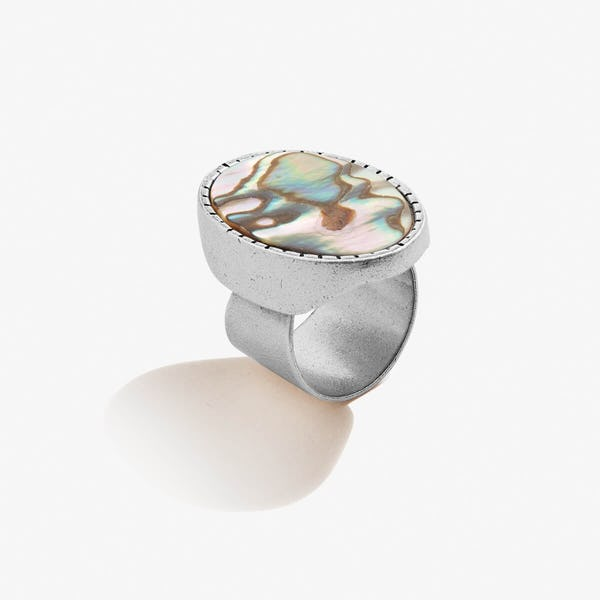 Abalone Cocktail Ring